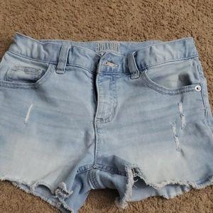 Justice denim shorts sz 12